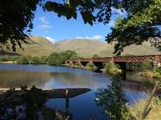 A railway bridge near Kilchurn Castle