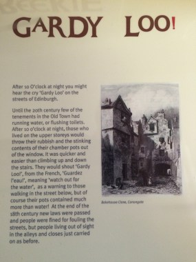 Gardy Loo explained by Museum of Edinburgh
