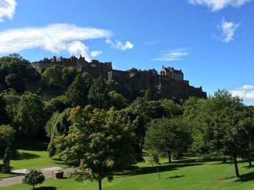 Edinburgh Castle overlooking Princes Street Gardens