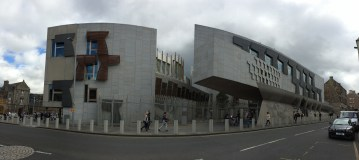 Scottish Parliament on Royal Mile