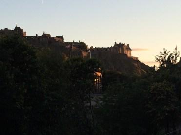 Edinburgh Castle in sunset