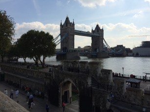 Tower Bridge viewed from the walls of the Tower of London