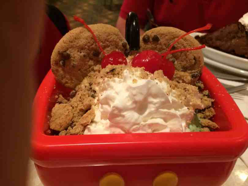 Our son has food allergies and this Mickey's Kitchen Sink was made with pixie dusted hands by Daniel, the Manager at The Plaza Restaurant located Walt Disney World's Magic Kingdom.