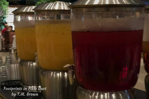 Juice cart at Disney Vacation Club's Mother's Day Brunch