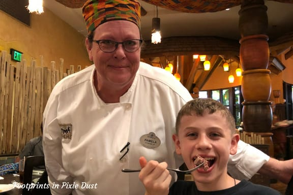 A photo with Chef Pamela at Boma ~ Photo credit: Tina M. Brown