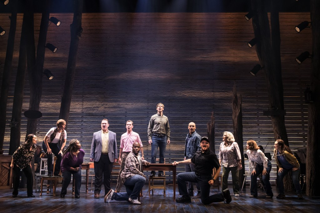 The First North American Tour Company of COME FROM AWAY, Photo by Matthew Murphy, 2018