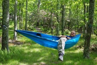 Wes prefers hammock style