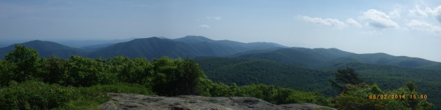Partial panorama from Spy Rock