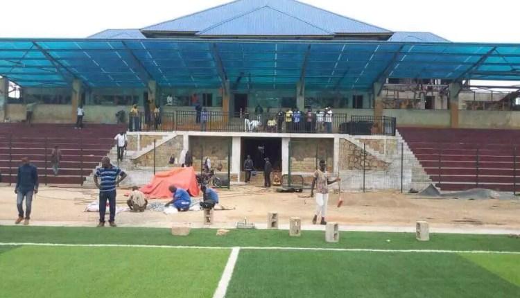Infrastructures : Stade Kashala Bonzola, la fin des travaux est proche