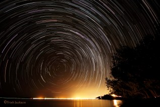 Startrails over Magnetic Island