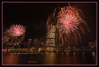 Brisbane city fireworks