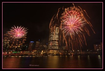 Brisbane city fireworks