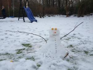 My first ever snowman!