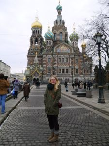 Up close to the Church of the Savior on Blood..