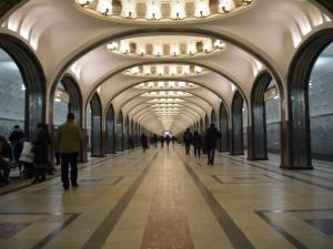 The amazing Mayakovskaya metro station..