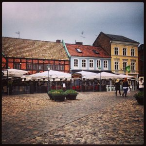 The cobbled streets of Malmo, Sweden..