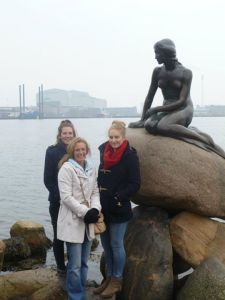 Me, my Mum and my Sister in front of The Little Mermaid..