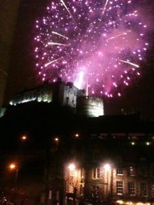 Fireworks over Edinburgh's Castle for New Year's