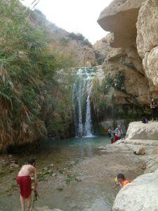 David's Waterfall in Ein Gedi Nature Reserve