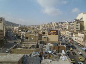 The view of Amman (Jordan) from my hostel window..