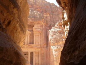 Standard snap of the Treasury in Petra peeking through..