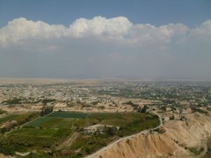 The view from the Mount of Temptation in Jericho..