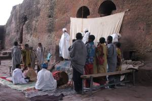 Morning service in the Rock-Hewn Churches of Lalibela..