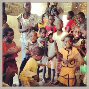 The beautiful children in Malawi signing and dancing with us..