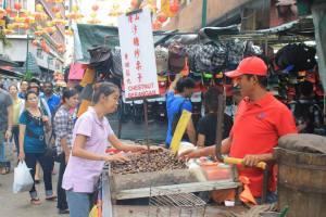 Street markets in Kuala Lumpur..