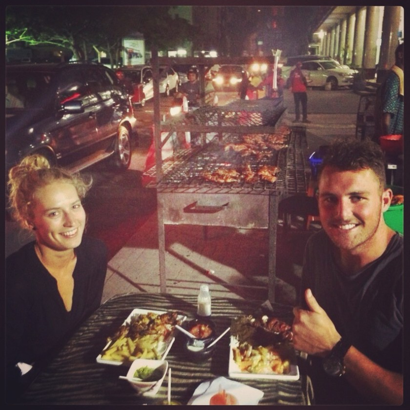 Our last dinner in together in Dar Es Salaam..