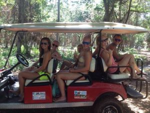 Our golf buggy for the day..!