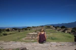 Monte Alban ruins in Oaxaca..