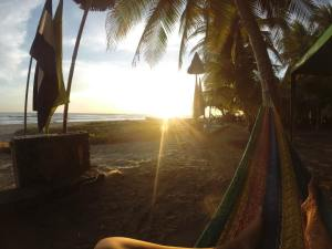 El Cuco sunset from the hammock..