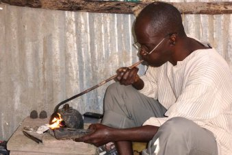 Gambia activities | Crafts corner | silversmith