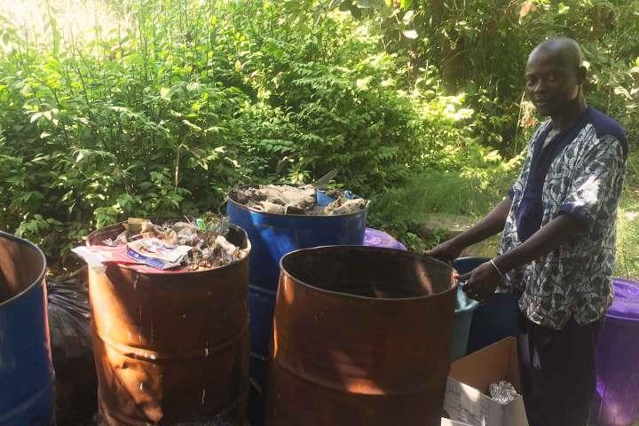 Recycling at Footsteps | Cash for trash | Kunjang at recycling area