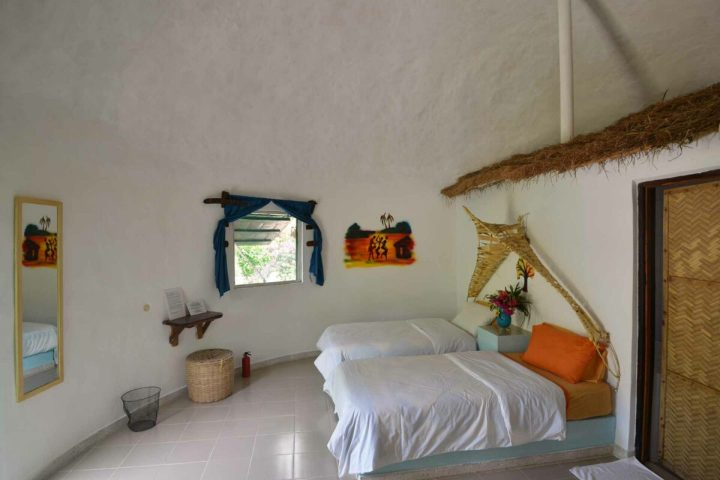 Twin bed | roundhouse accommodation | interior