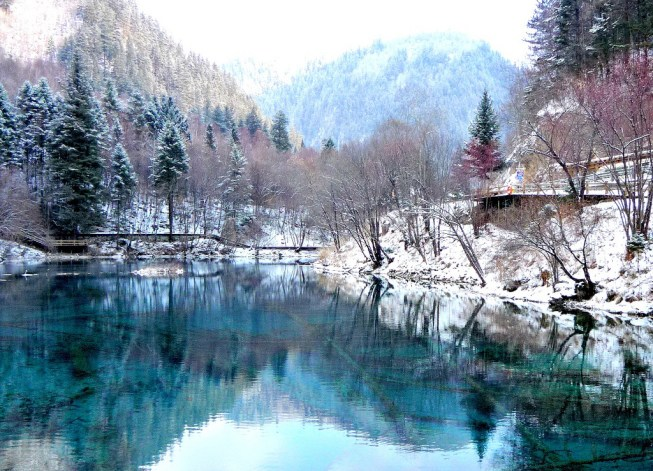 Jiuzhaigou Winter