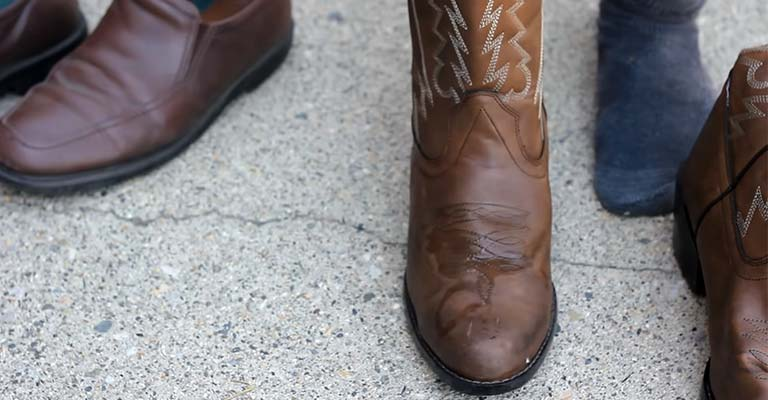 Continue Wearing Until the Boots Are Dry