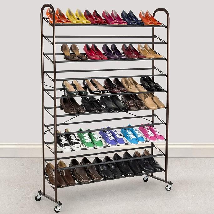best rolling shoe racks footwear news