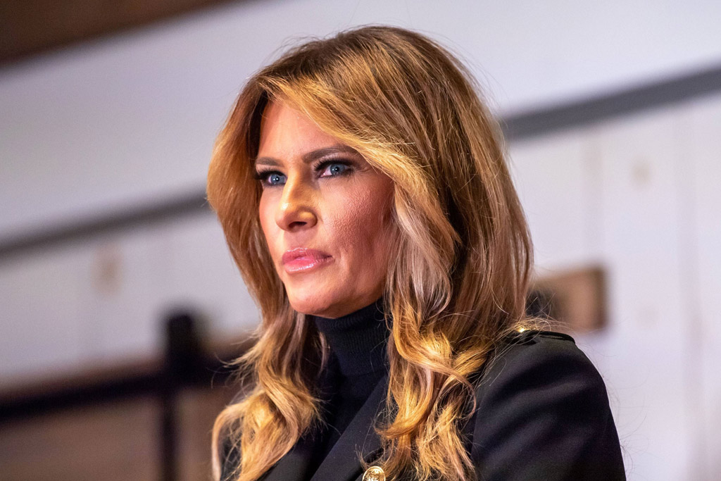 Melania Trump Gives Her Farewell Speech in One Final White House Look