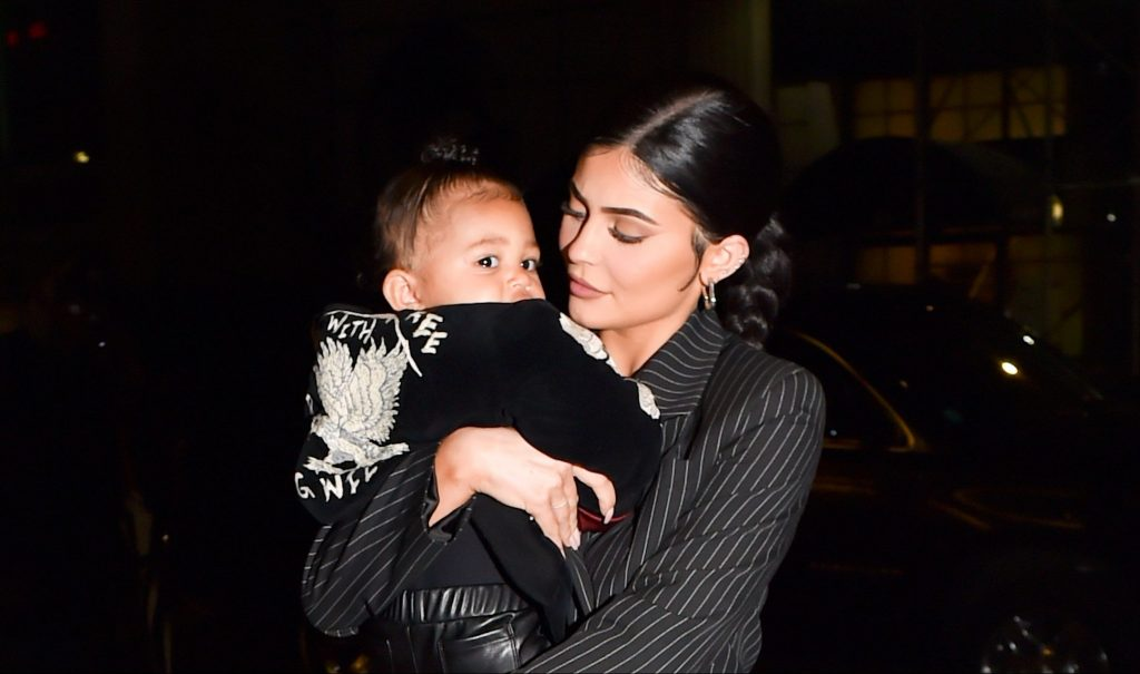 Stormi Webster Showcases Her Edgy Style in Graphic T-Shirt, Leather Pants and Rare Nike Dunks
