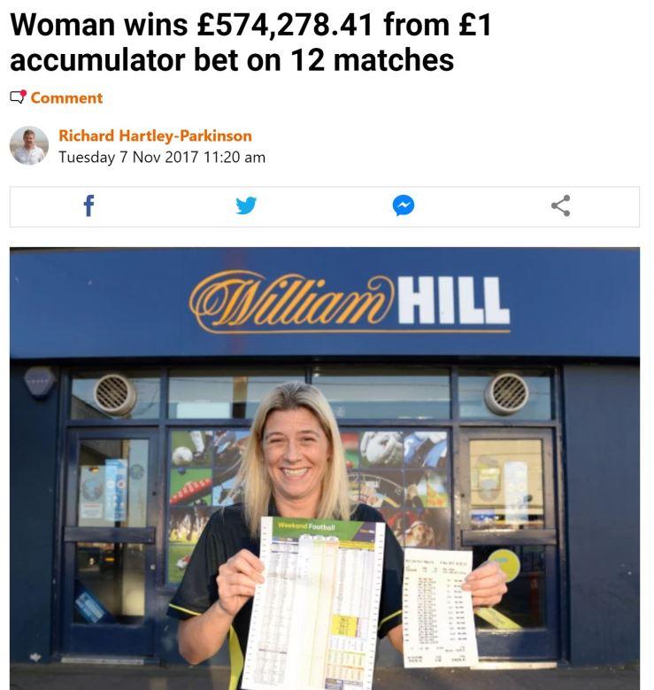 football accumulator betting winners