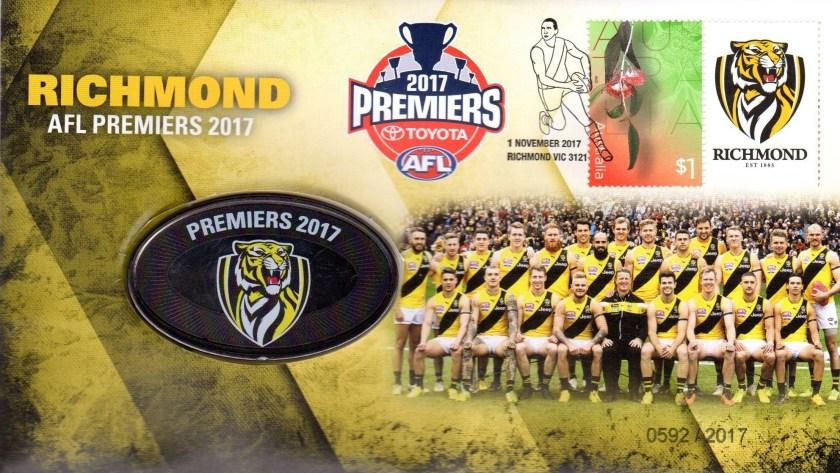 Richmond AFL Premiers Medallion Cover 2017