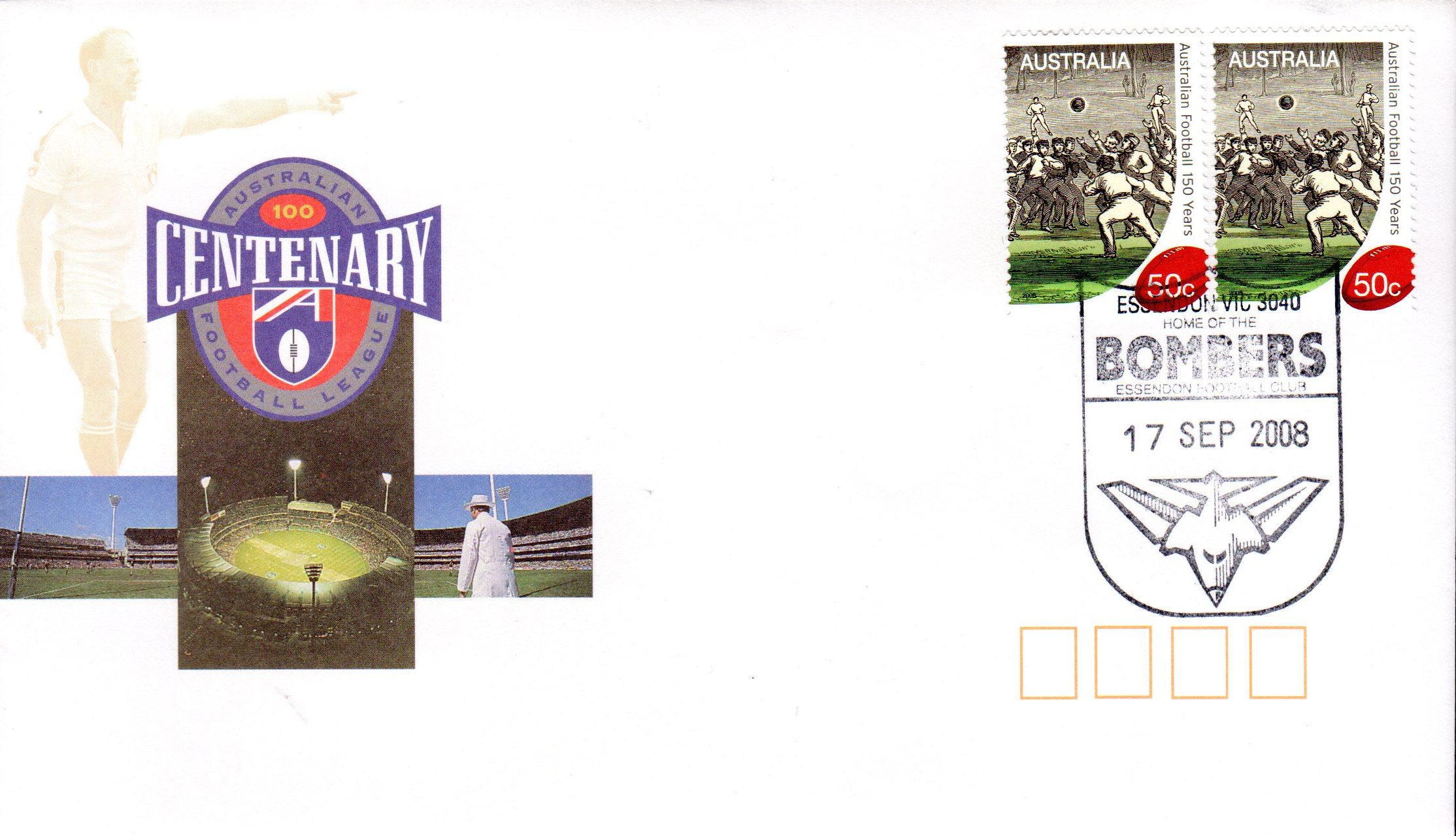 1996 Cent Cover, 150 Yrs St, New PM 17 Sept 08