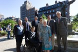 Peter White (Zen Associates), Cassidy Choust and Gene Bolinger (Weston & Sampson), Project Manager Bob Mulcahy (Friends), Executive Director Liz Vizza (Friends), Friends Board Chair Leslie Adam, Boston Parks Commissioner Chris Cook, Friends President Emeritus Henry Lee