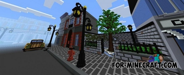 Streets 20 s map for MCPE 0 14 0