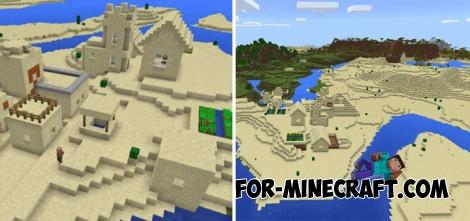 Seed Village Para Minecraft Bedrock 1.2