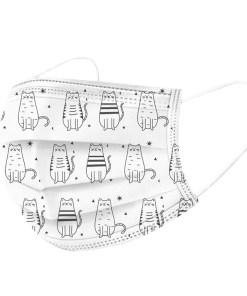 Mascarilla higiénica para niños - Estampado gatos