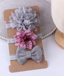 Diadema elástica de flores para bebé