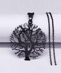 Collar con colgante árbol de la vida calado